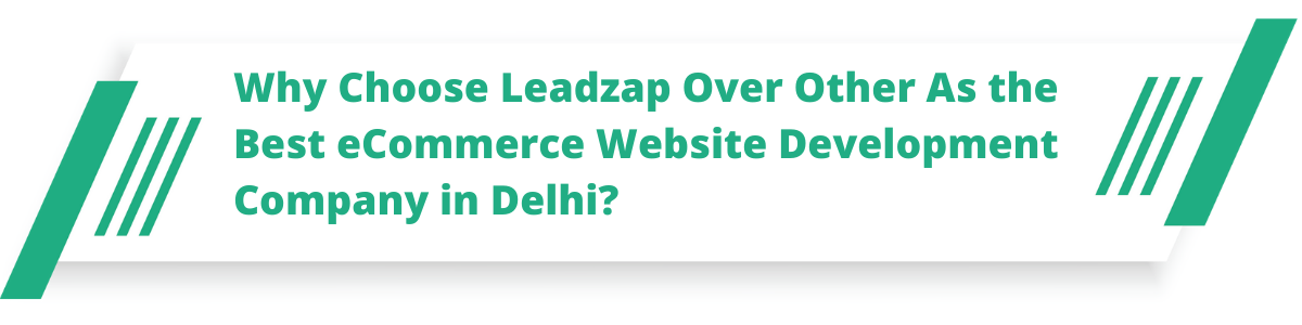 Why Choose Leadzap Over Other As the Best eCommerce Website Development Company in Delhi?
