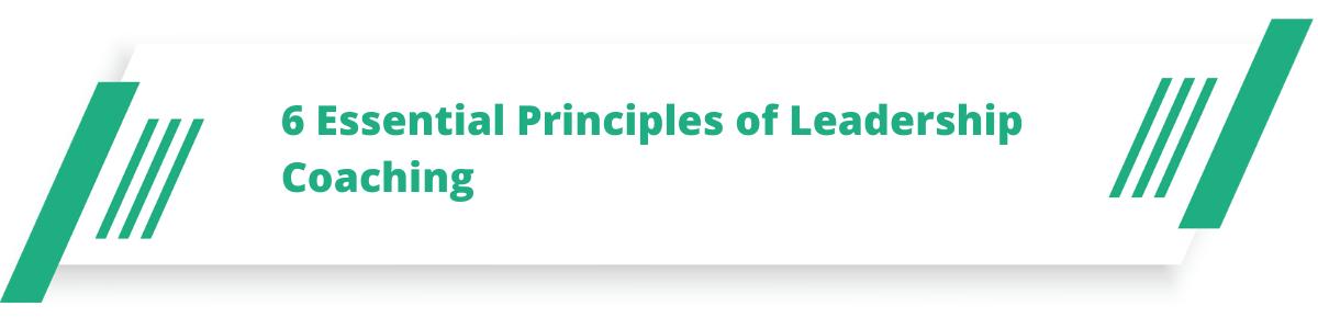 6 Essential Principles of Leadership Coaching