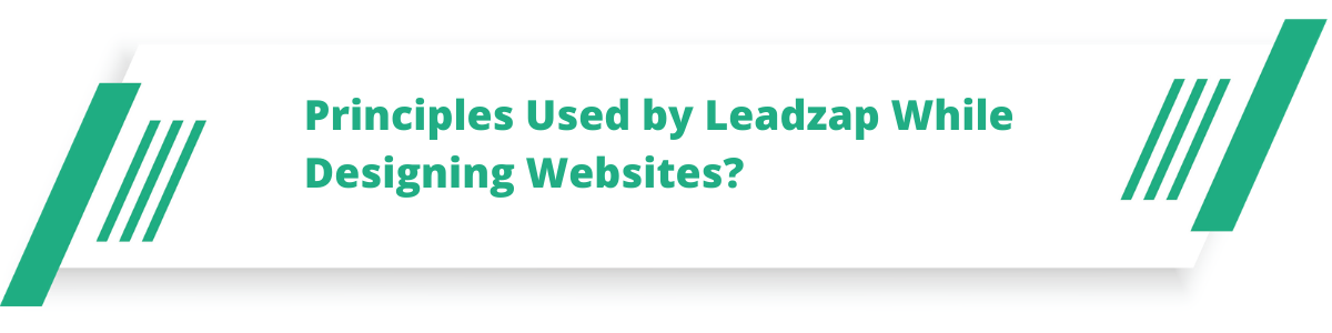 Principles Used by Leadzap While Designing Websites?